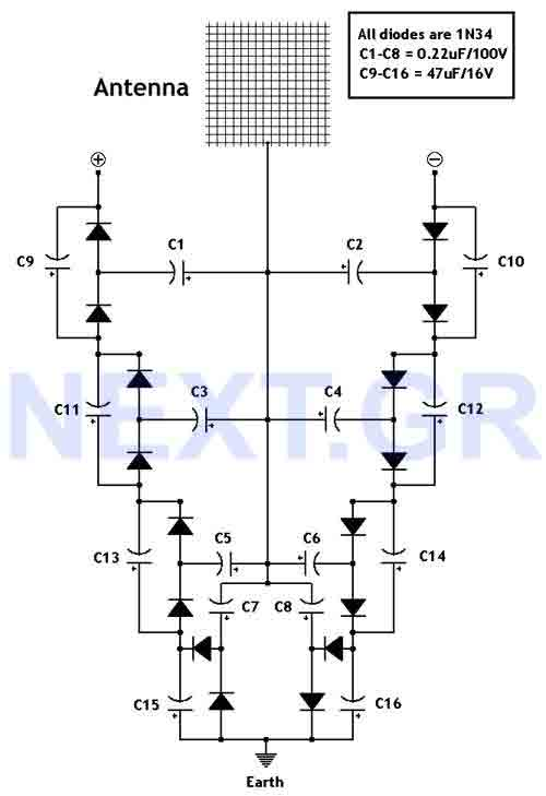 Free energy collector circuit