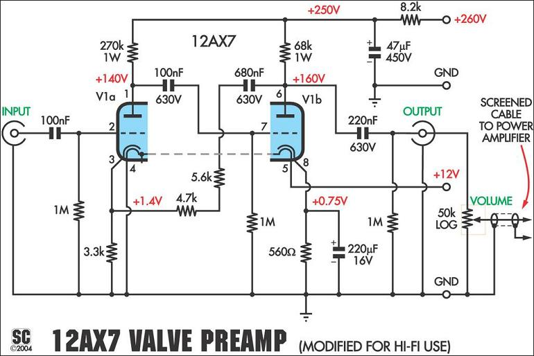 vacuum tube valve circuit page 6 : audio circuits :: next.gr led fluorescent tube wiring diagram 12ax7 tube wiring diagram #12
