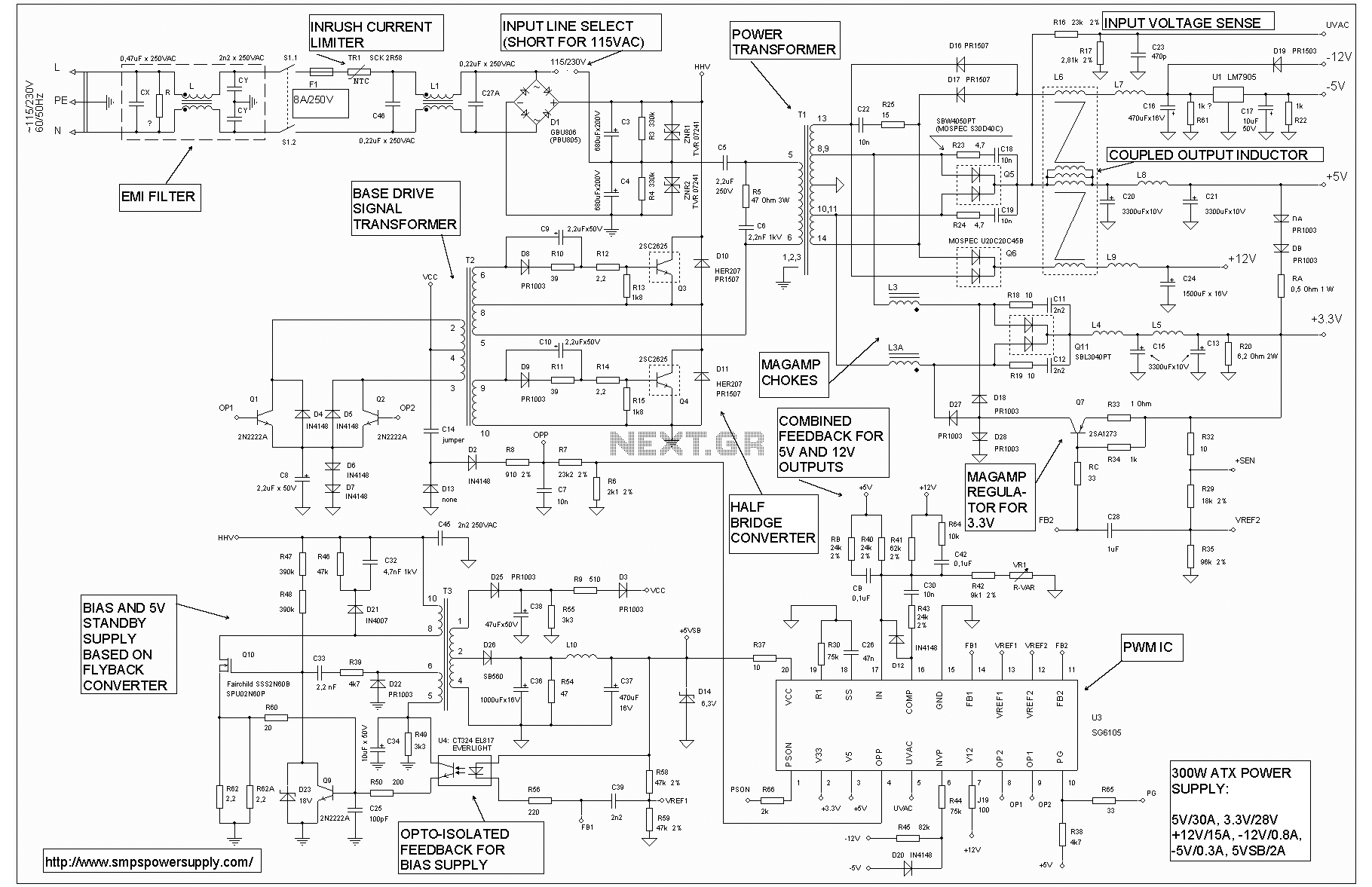 Computer power supply atx pinouts schematics reviews